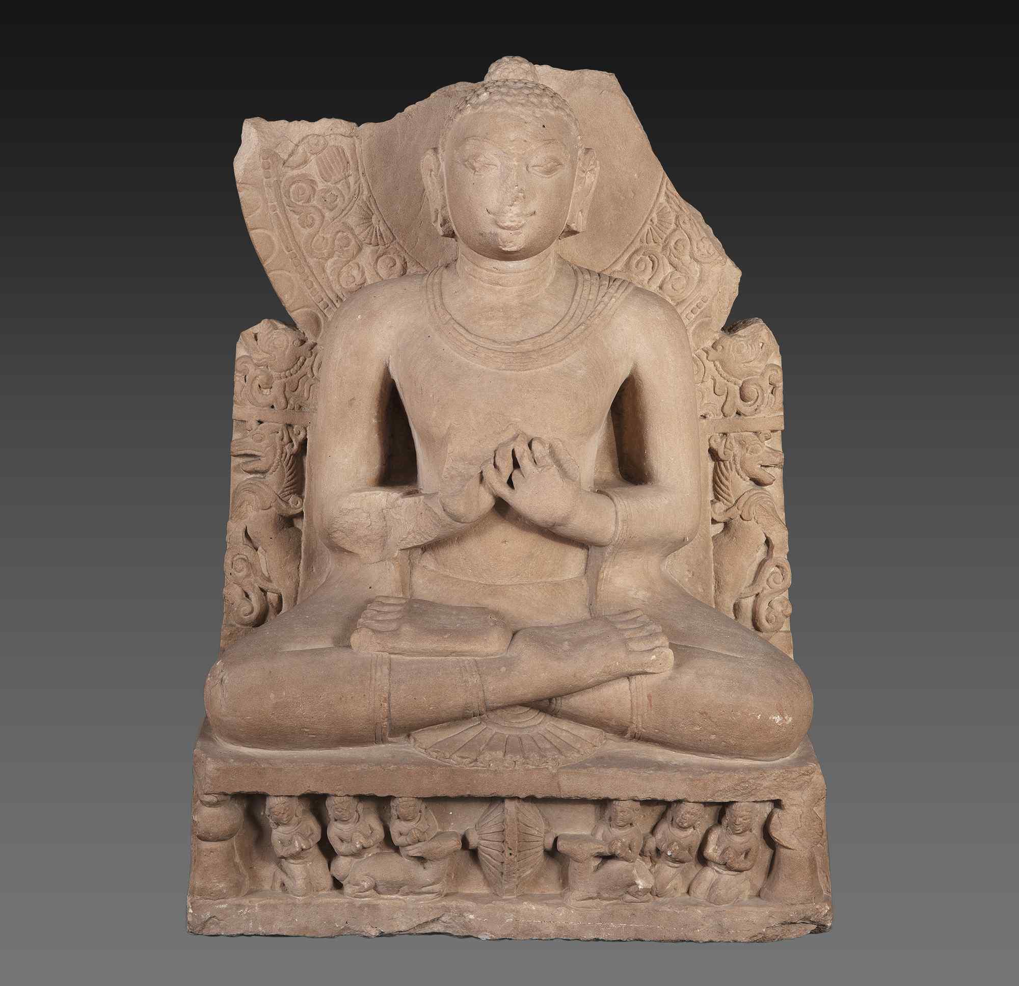 Buddha, pietra arenaria, periodo Gupta, India. IV-V secolo.