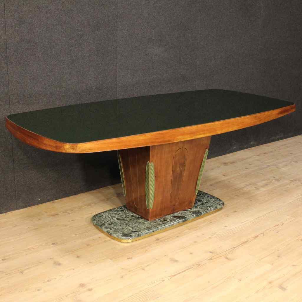 Tavolo intarsiato in pallissandro, XX secolo