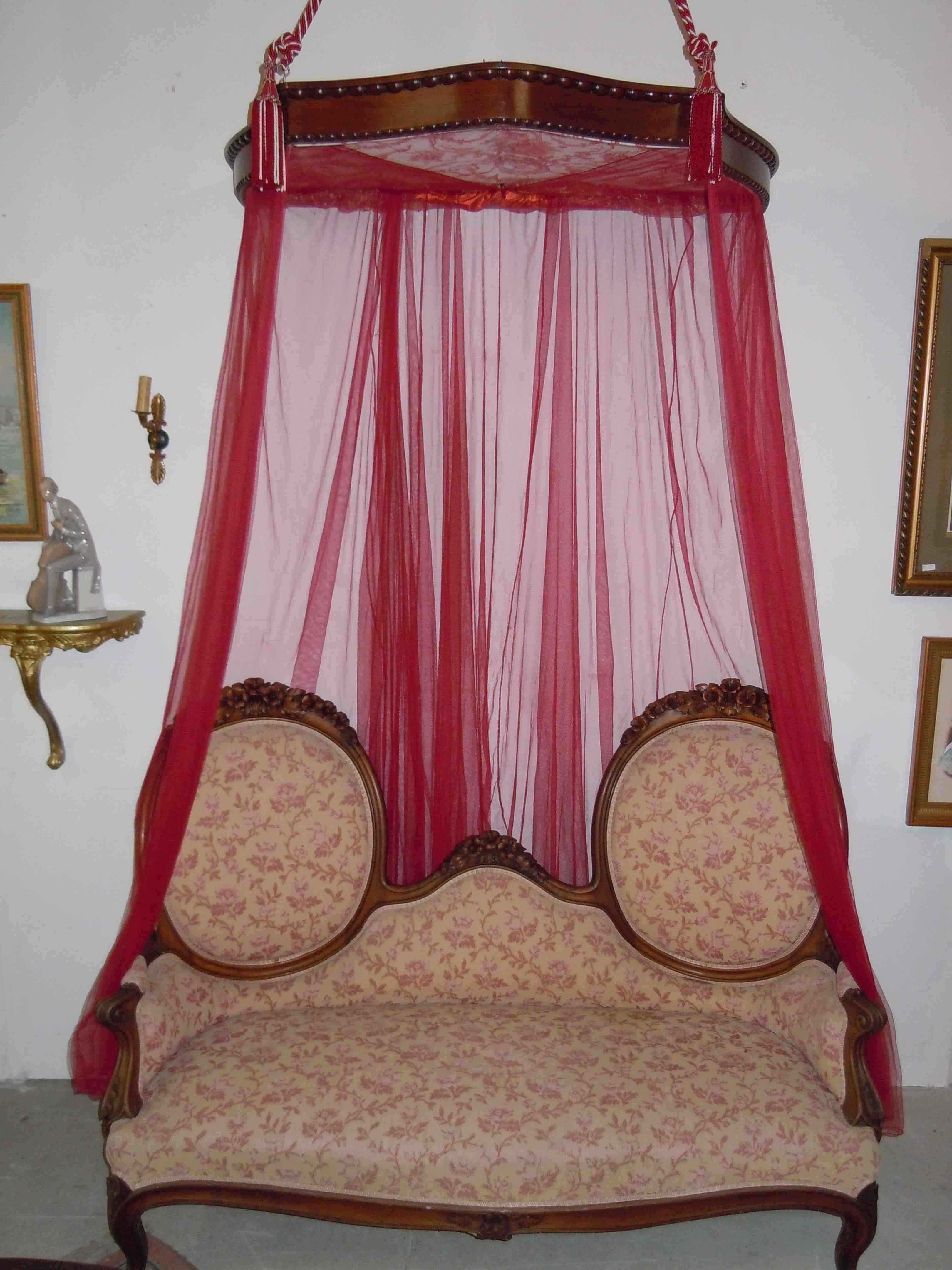letto a baldacchino xix secolo anticswiss. Black Bedroom Furniture Sets. Home Design Ideas