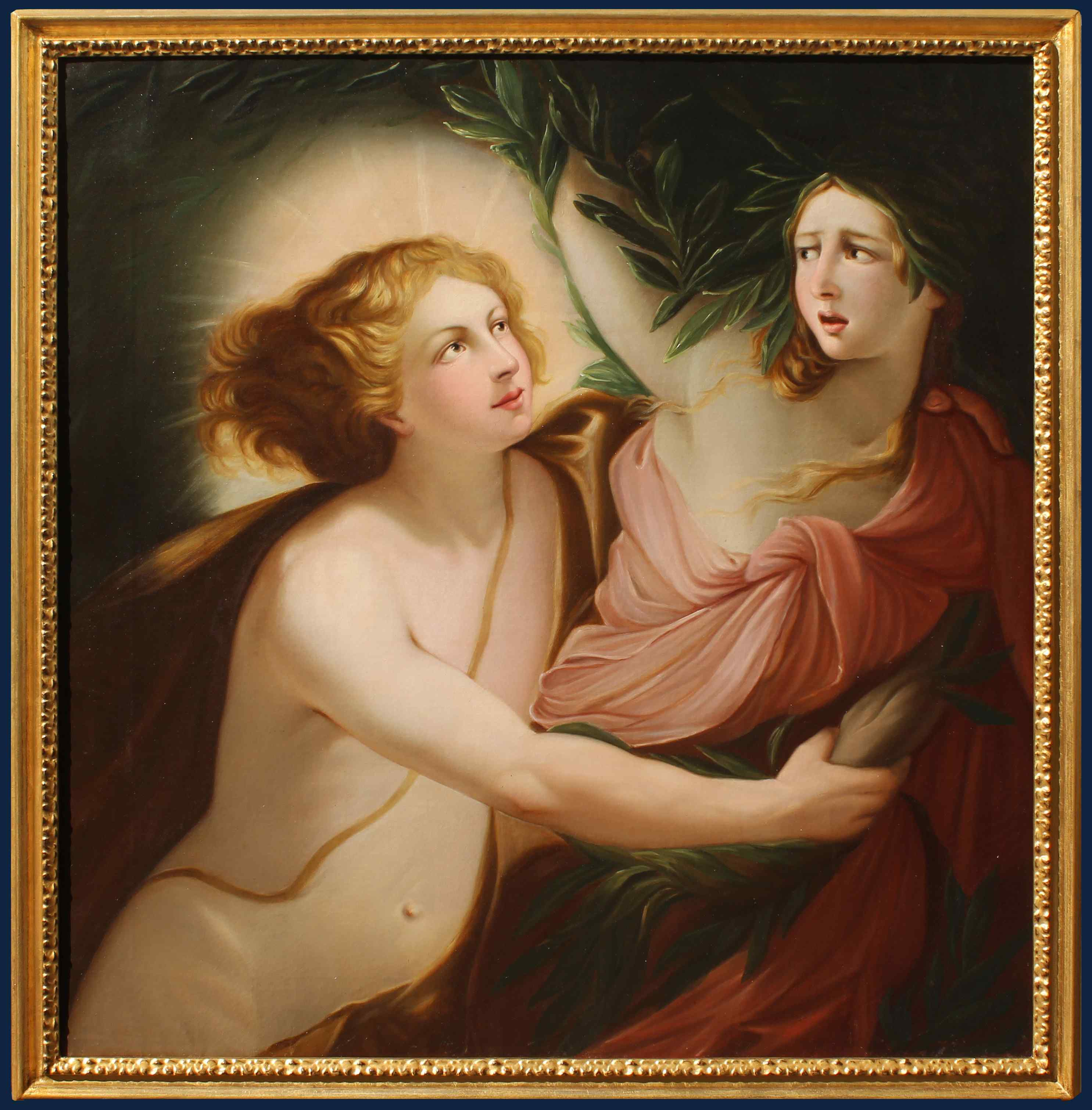 Neoclassical painter, XIX century Apollo and Daphne