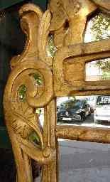 Specchiera antica in legno dorato, XVII secolo-0