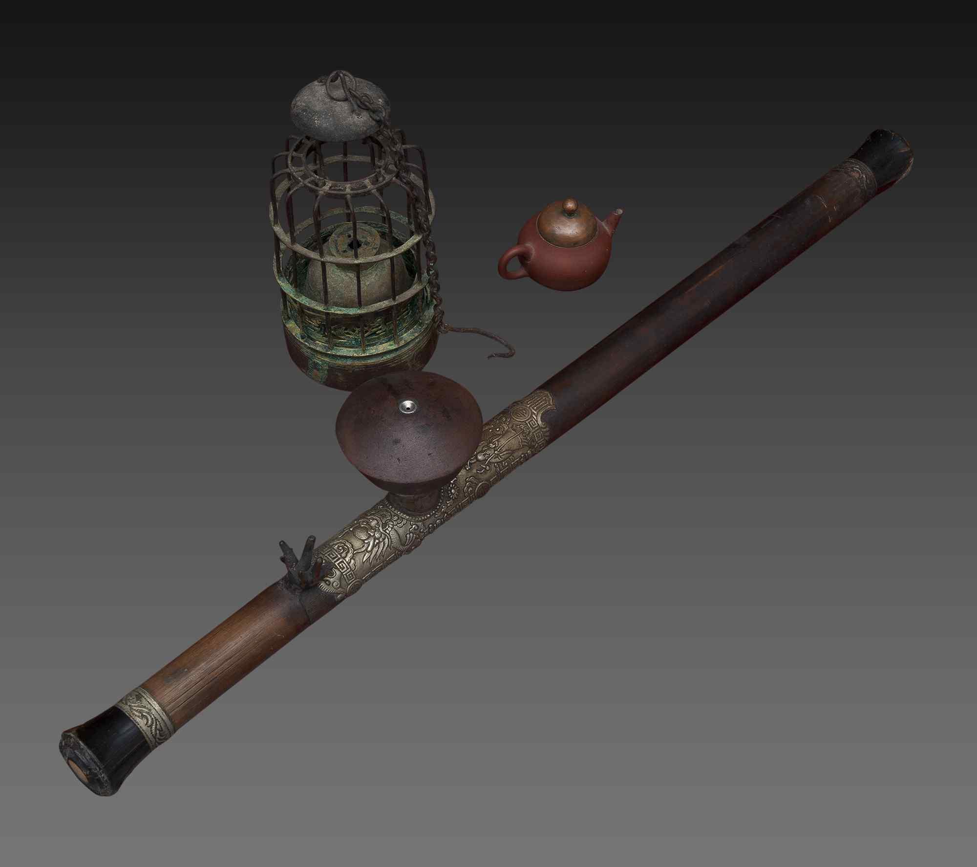 Antica pipa da oppio, XIX secolo, Vietnam