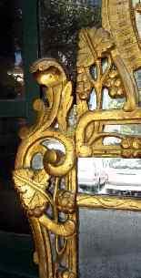 Grande specchio provenzale Beaucaire visiera chiusa, legno d-1