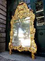 Grande specchio provenzale Beaucaire visiera chiusa, legno d-3