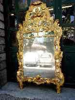 Grande specchio provenzale Beaucaire visiera chiusa, legno d-8