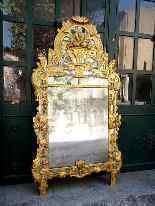Grande specchio provenzale Beaucaire visiera chiusa, legno d-10