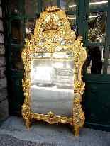 Grande specchio provenzale Beaucaire visiera chiusa, legno d-6