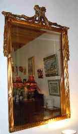 Specchiera in legno dorato di stile Luigi XVI-2