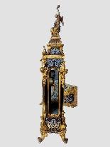 Cartel Boulle francese con bronzi dorati - 160 cm-6