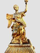 Cartel Boulle francese con bronzi dorati - 160 cm-3