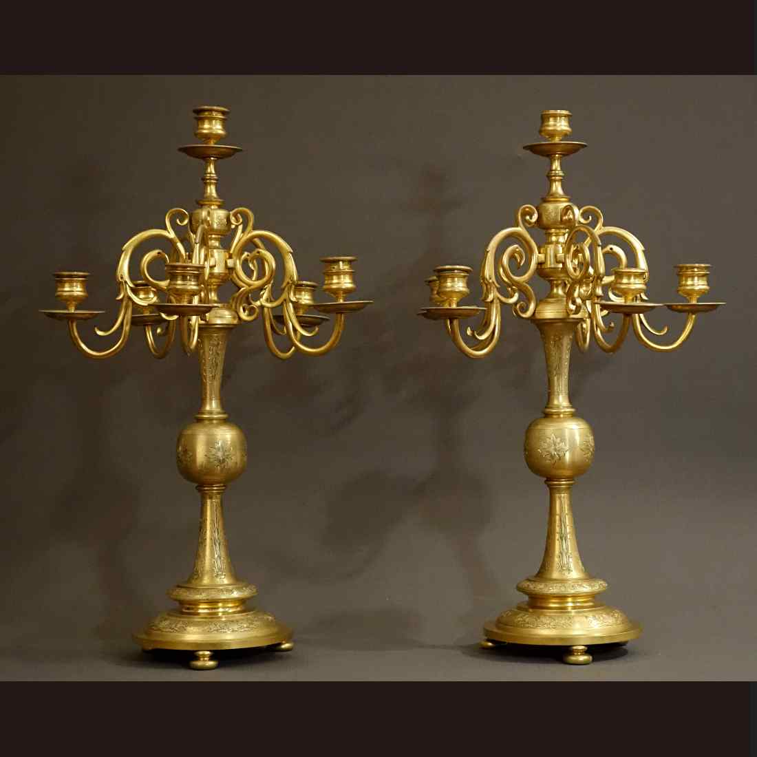 Coppia di candelabri, Olanda XIX secolo