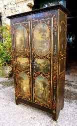 Raro armadietto antico e laccato francese del '700-2