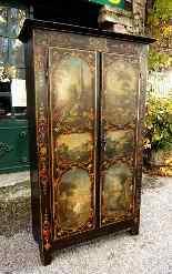 Raro armadietto antico e laccato francese del '700-3