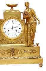 Pendolo 1° impero bronzo dorato firmato LEROY a Parigi-7