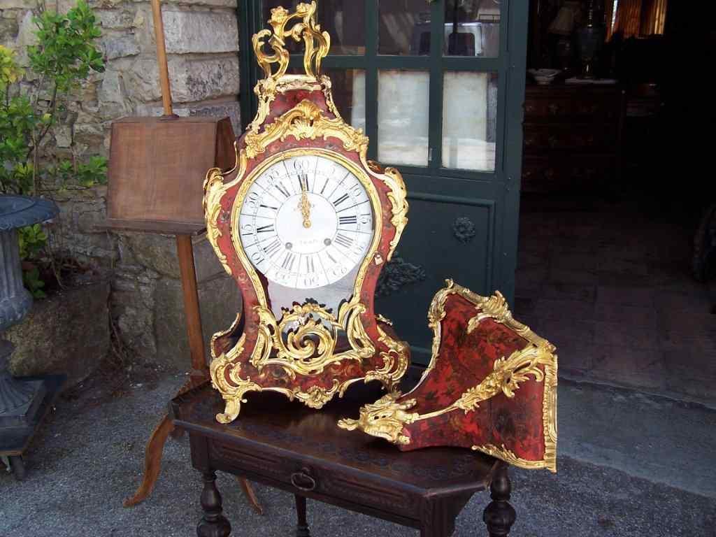Importante orologio Cartel francese con consolle