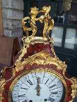 Importante orologio Cartel francese con consolle-5