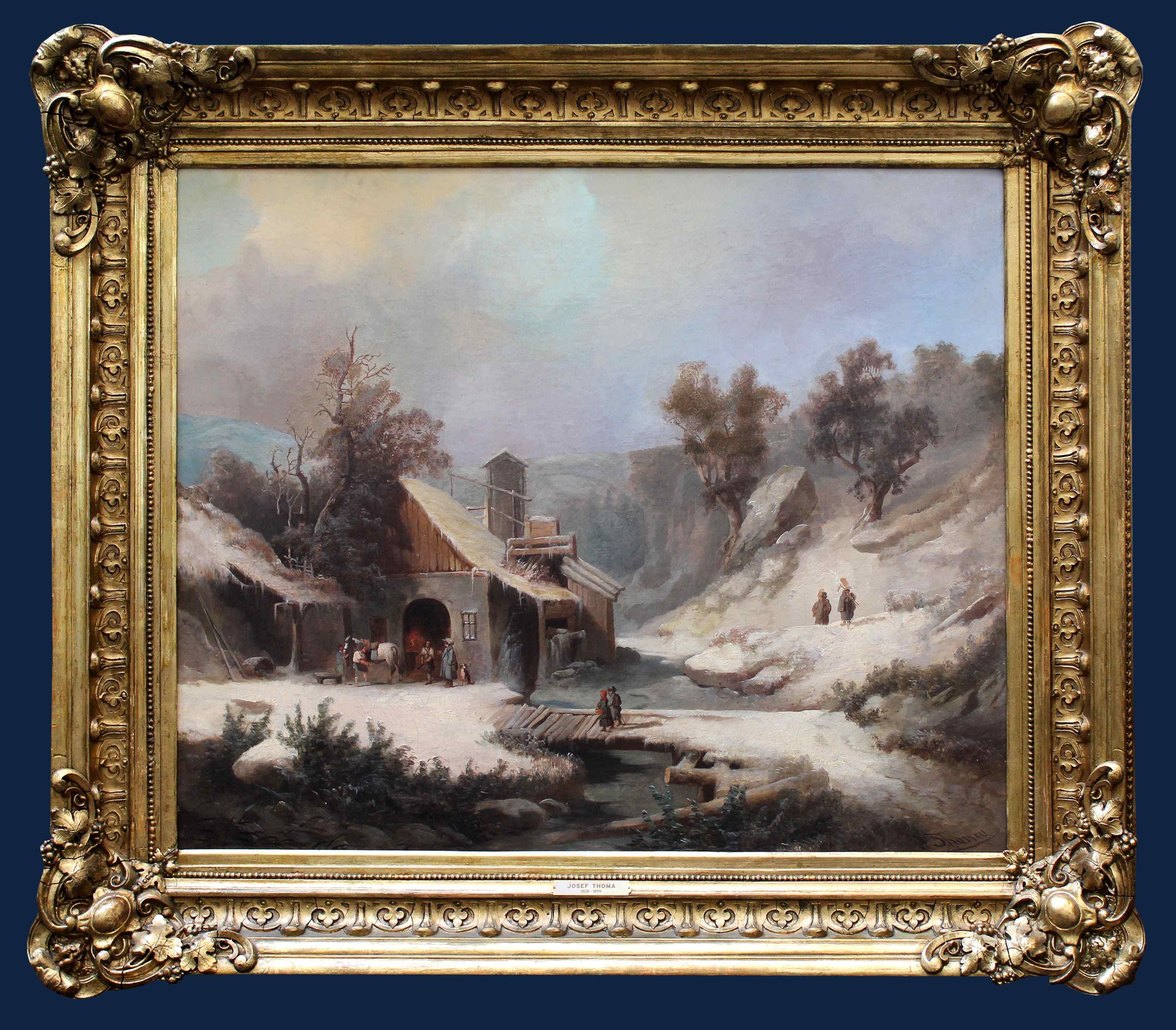 Josef Thoma (1828 - 1899), Paysage d'hiver, Peinture