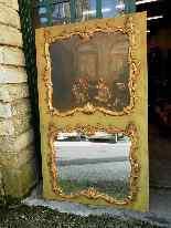 Specchiera con dipinto antico dell'800-0