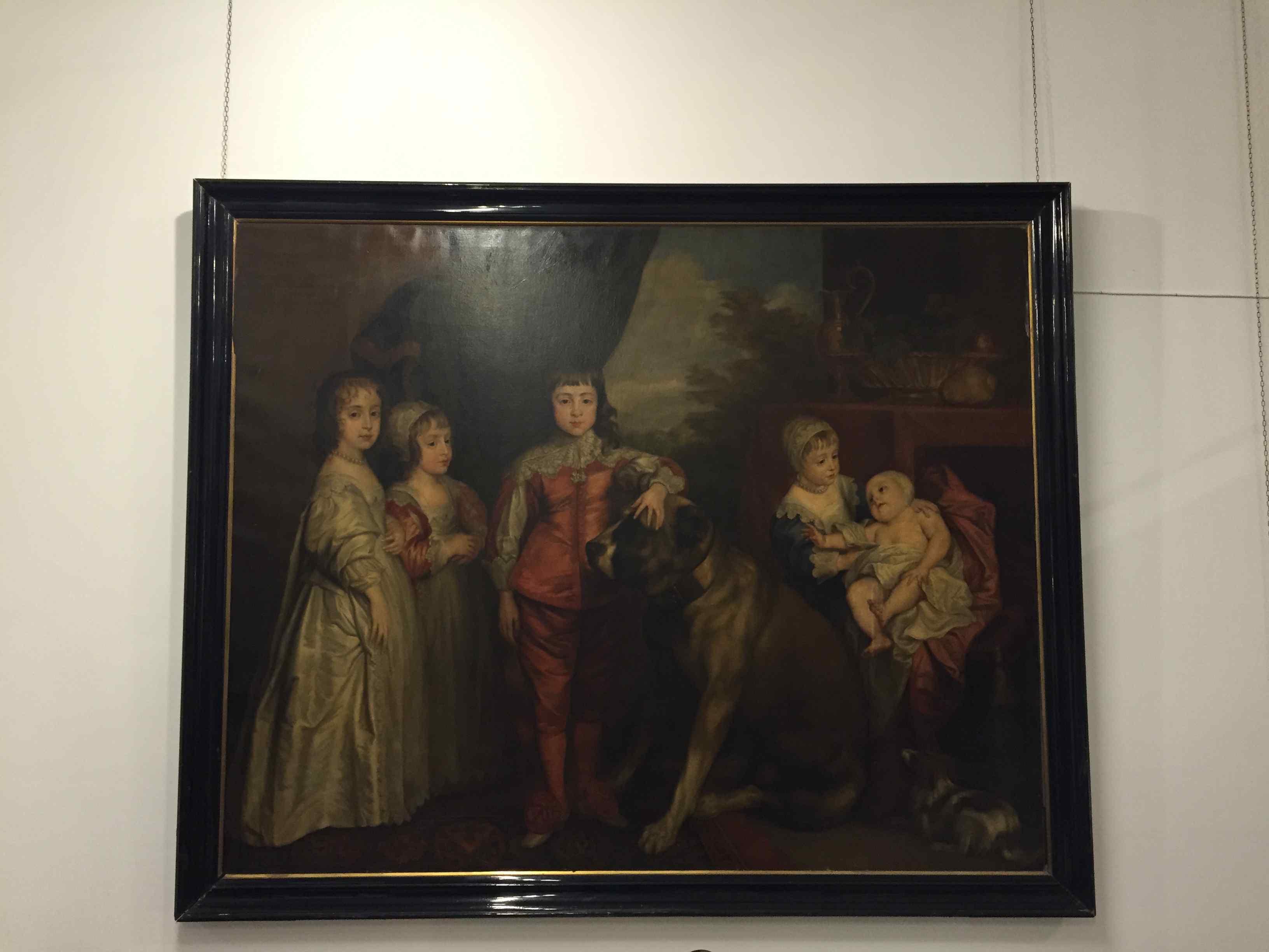 Grande Dipinto raffigurante famiglia reale inglese