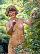 Henry-Marie Charry 1878 Portrait De Madame Charry En Eve-4