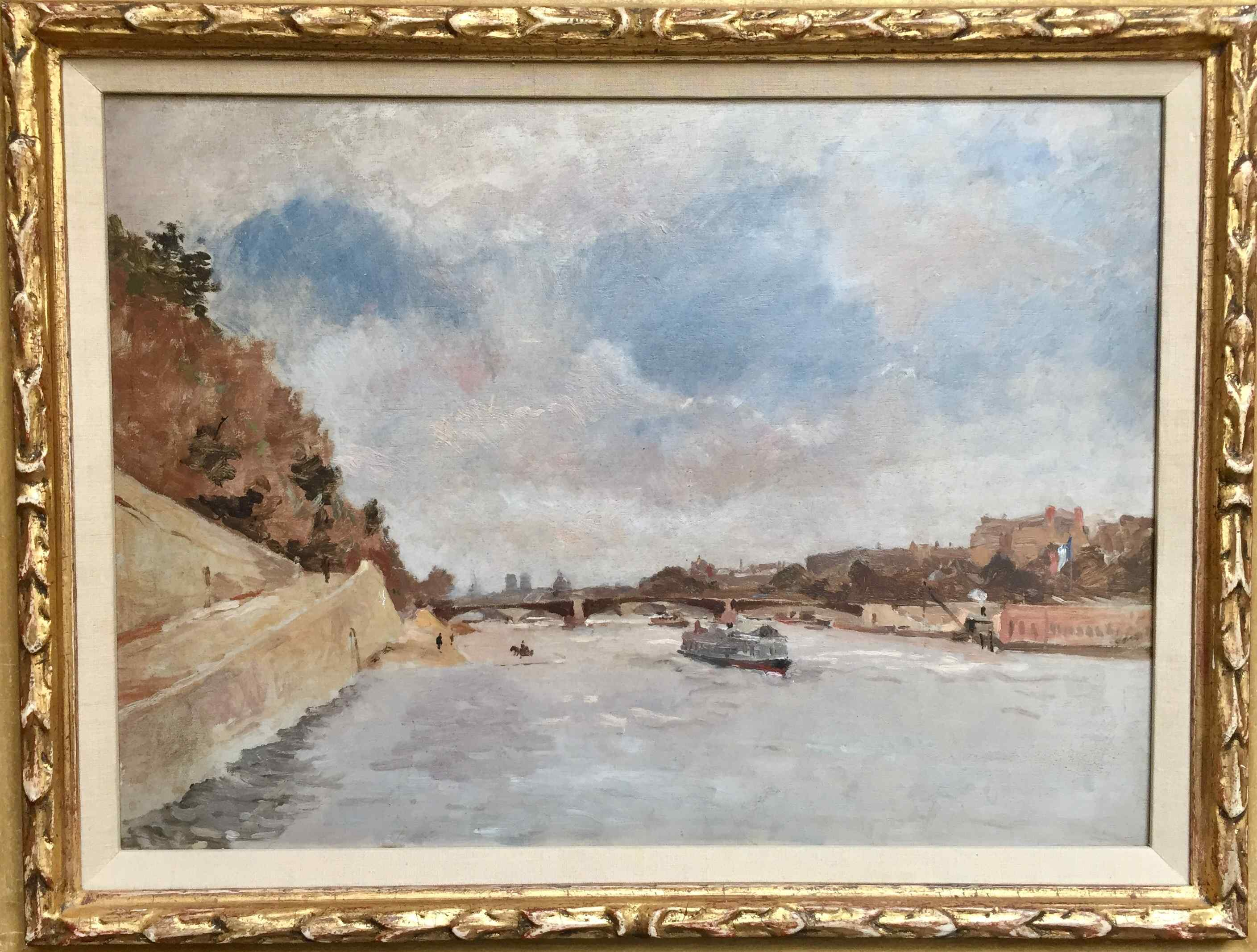 Qanchina di Seine di Frank Boggs, impressionnist americana