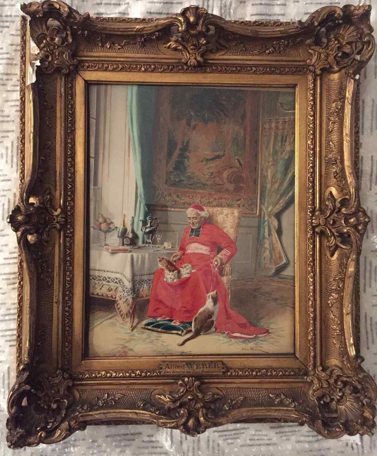 I favoriti di Sua Eminenza quadro di A. WEBER