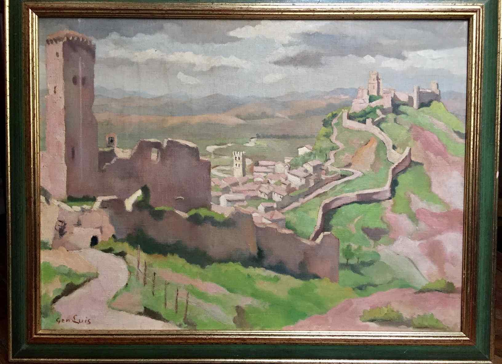 Paesaggio di Assisi chiamato GEN-Geneviève LUIS LUIS