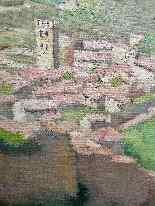 Пейзаж Ассизи называется GEN-Женевьев LUIS LUIS-1