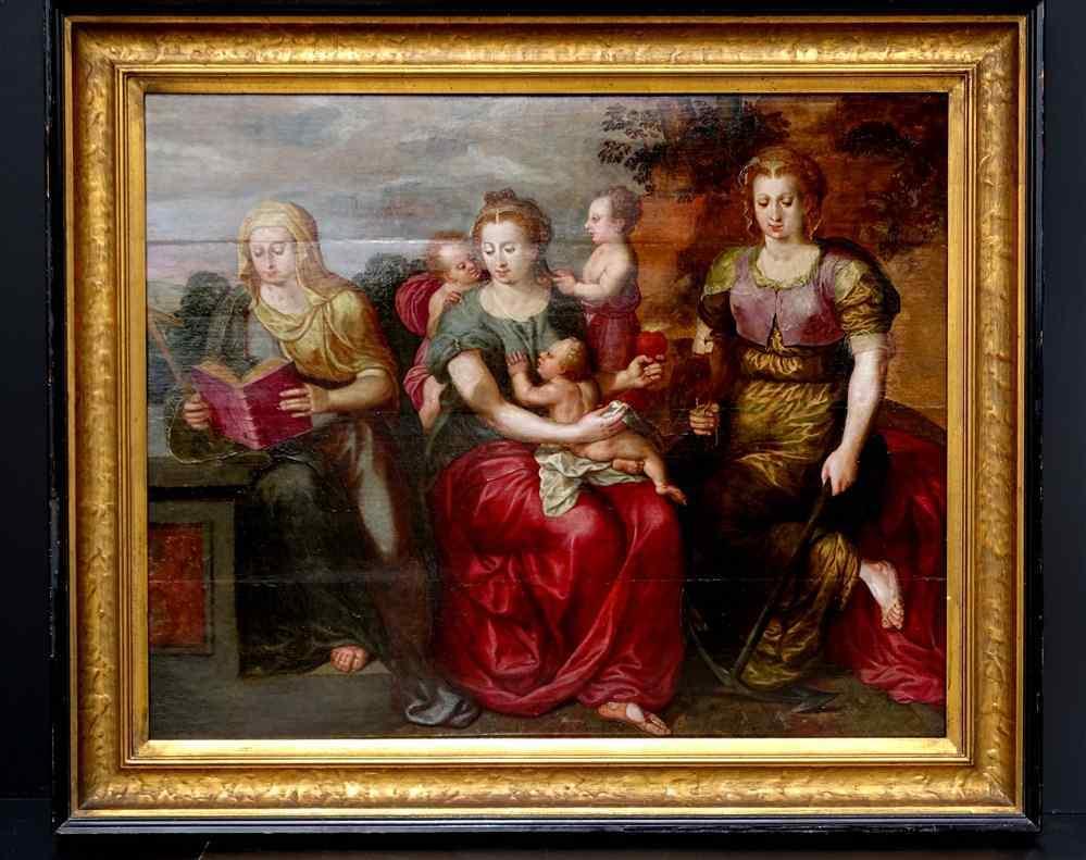 Maarten de Vos Anvers 1532-1603 « Une Sainte Parenté » Impor