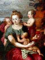 Maarten de Vos Anvers 1532-1603 « Une Sainte Parenté » Impor-1