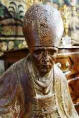 Grande statua raffigurante un vescovo XVIII legno-1