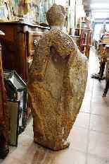 Grande statua raffigurante un vescovo XVIII legno-5