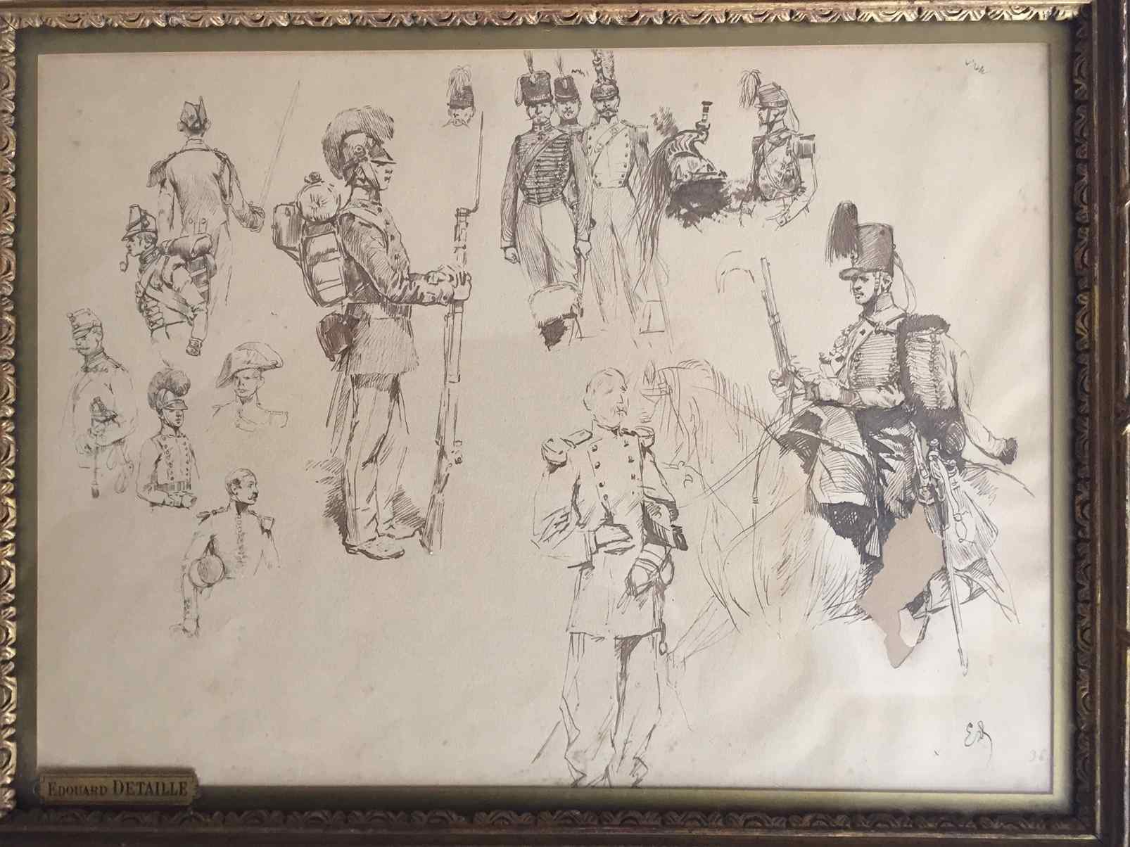 Etude de Soldats d'Edouard Detaille (184-1912)