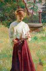 Ettore BRUNINI (XIX-XX) quadro impressionista-2
