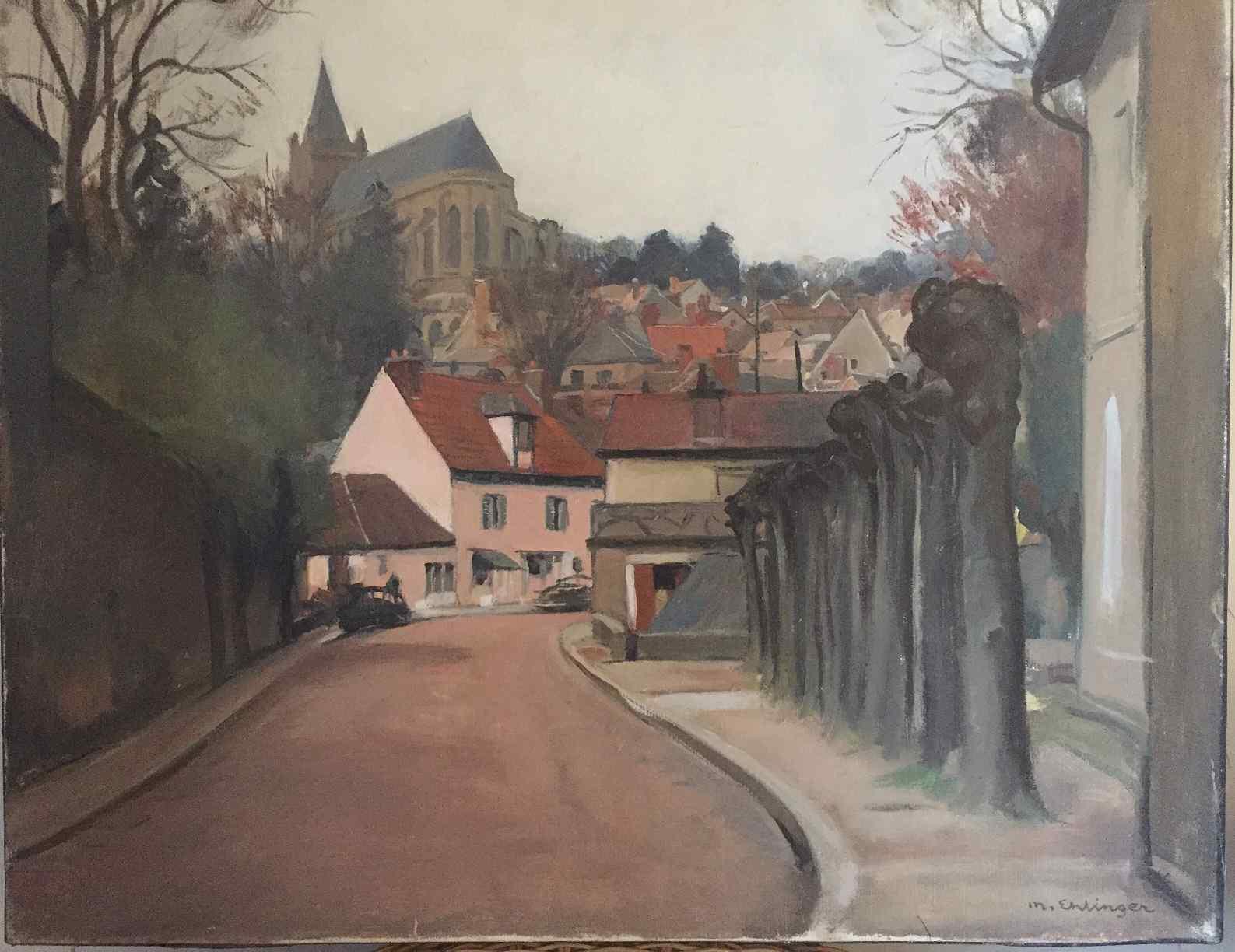 Montfort l'Amaury di Maurice EHLINGER (1896- 1981)