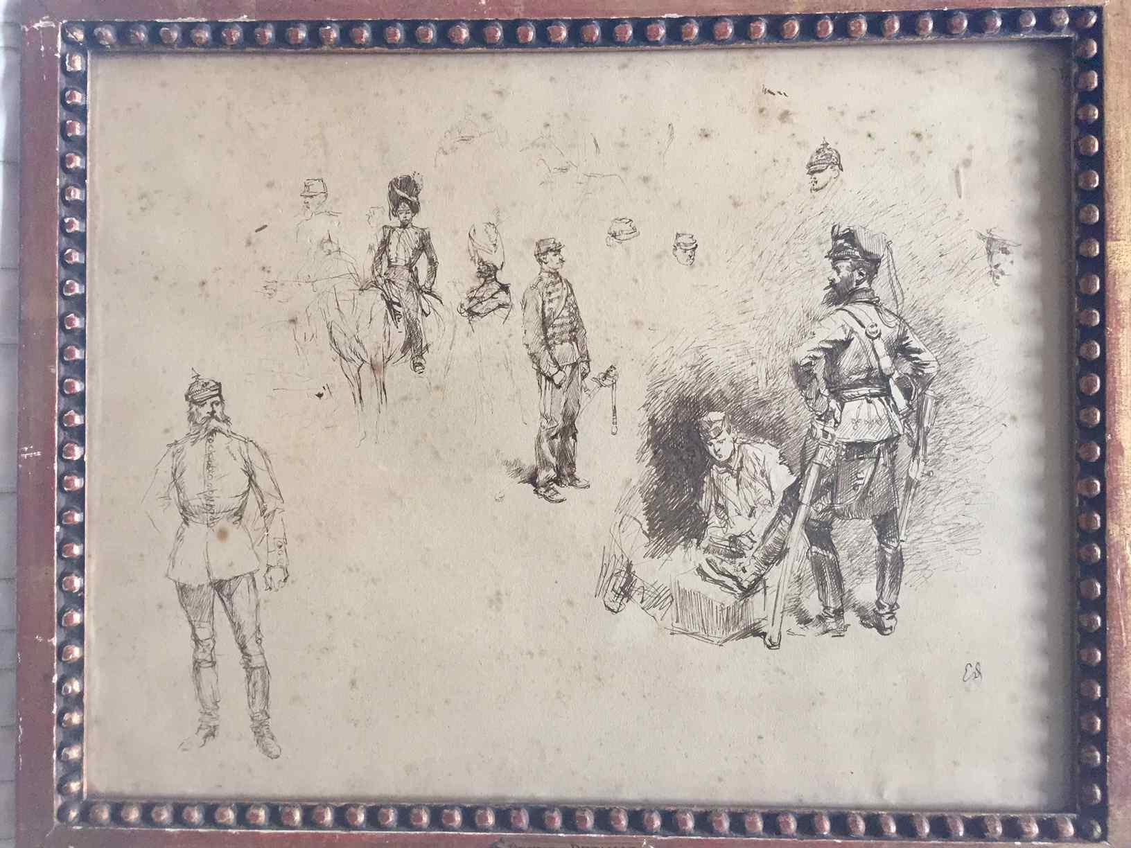 Studio di soldati tedeschi il cui Edouard Detaille Army