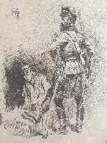 Studio di soldati tedeschi il cui Edouard Detaille Army-0