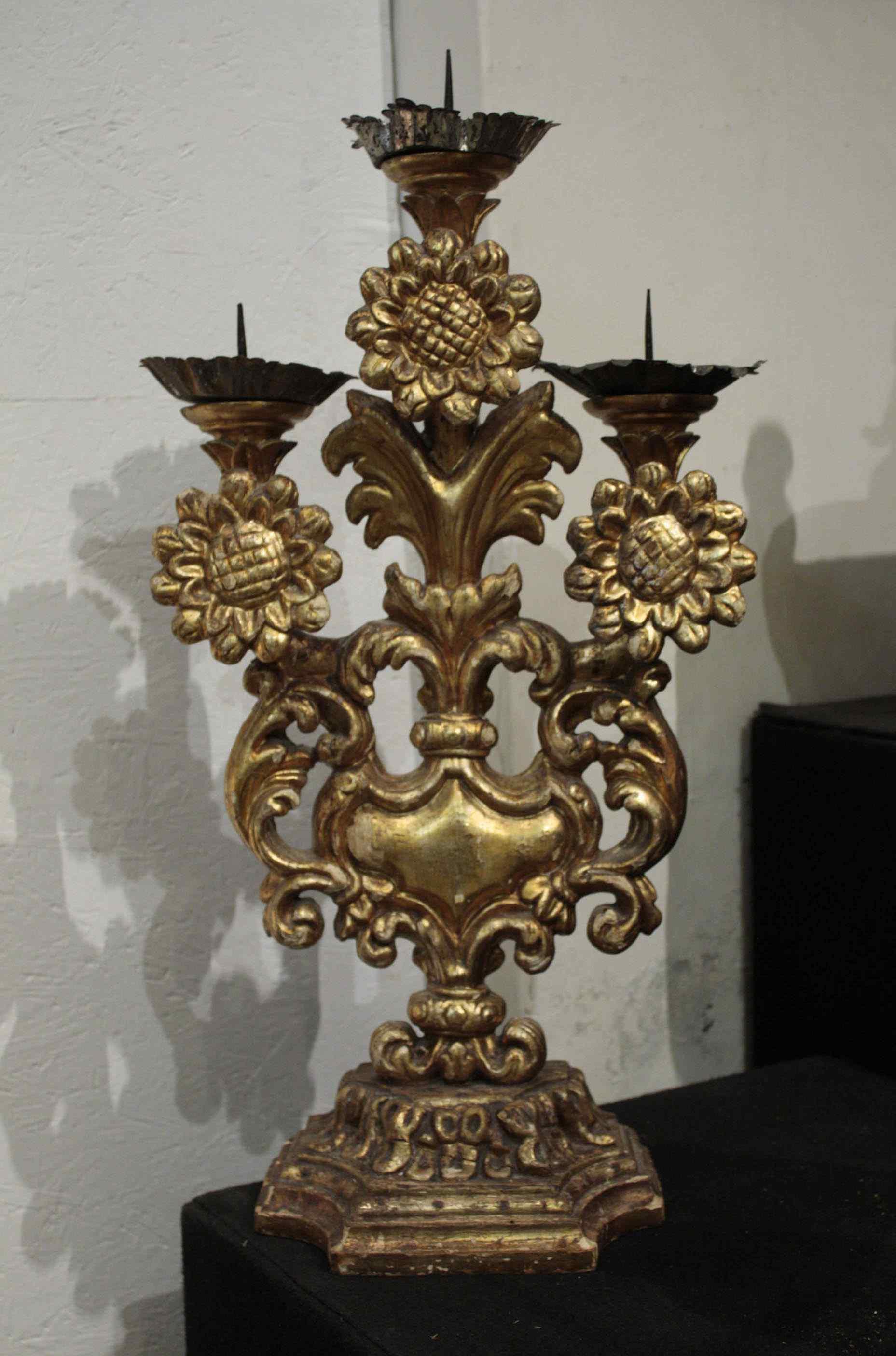 Candeliere a tre luci, Luigi XIV