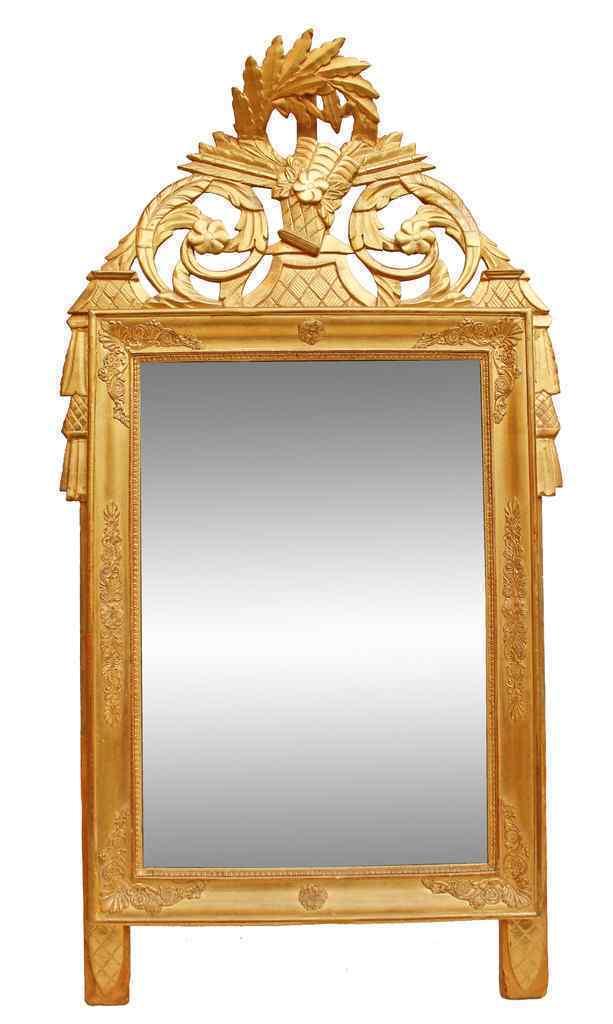 Specchio provenzale in legno dorato