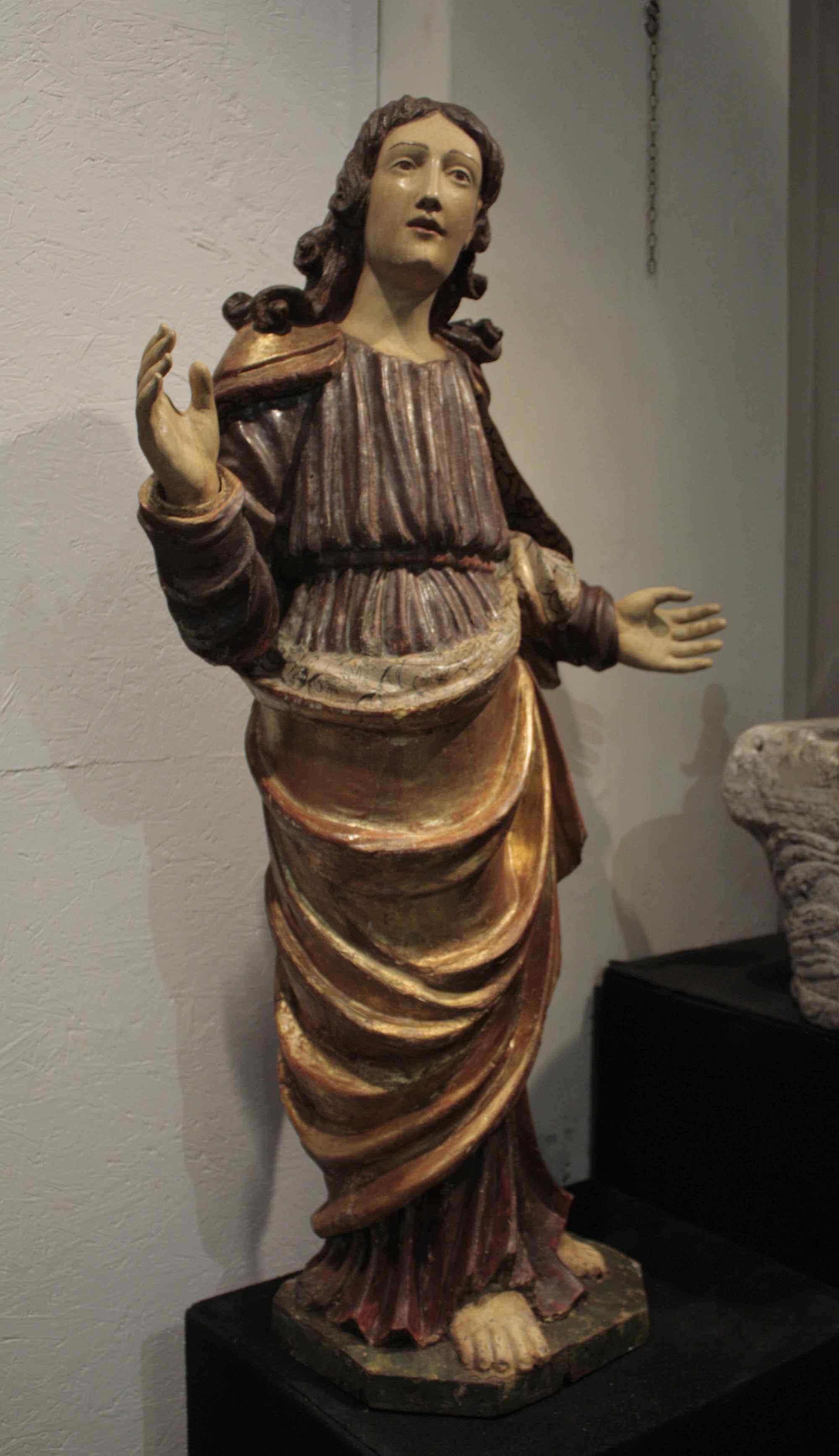 polychromes dépeignant sculpture en bois « San Giovanni »