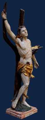XVIII secolo, San Sebastiano, Legno policromo, alt. cm 55-2