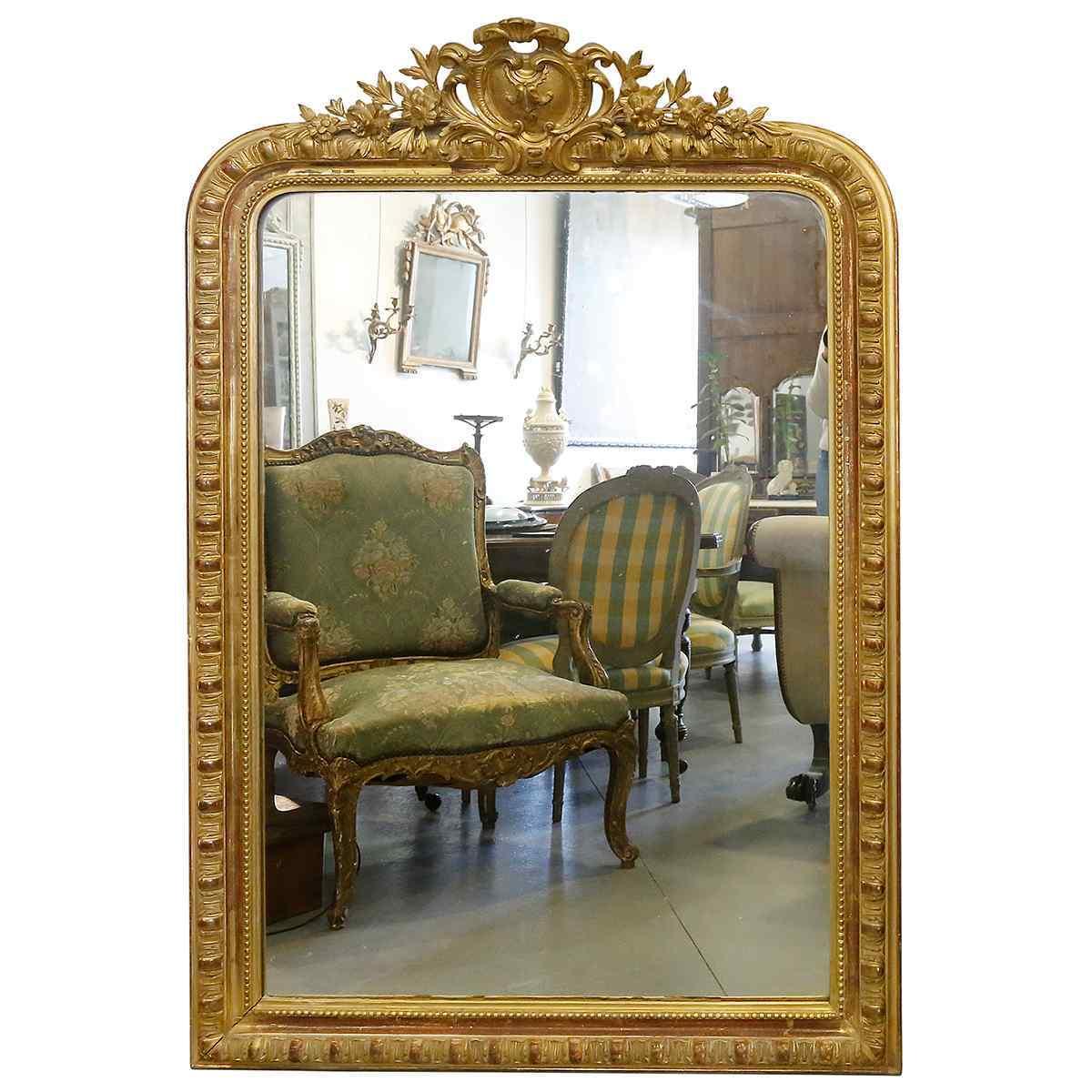 Зеркало в стиле Людовика XVI 19 века