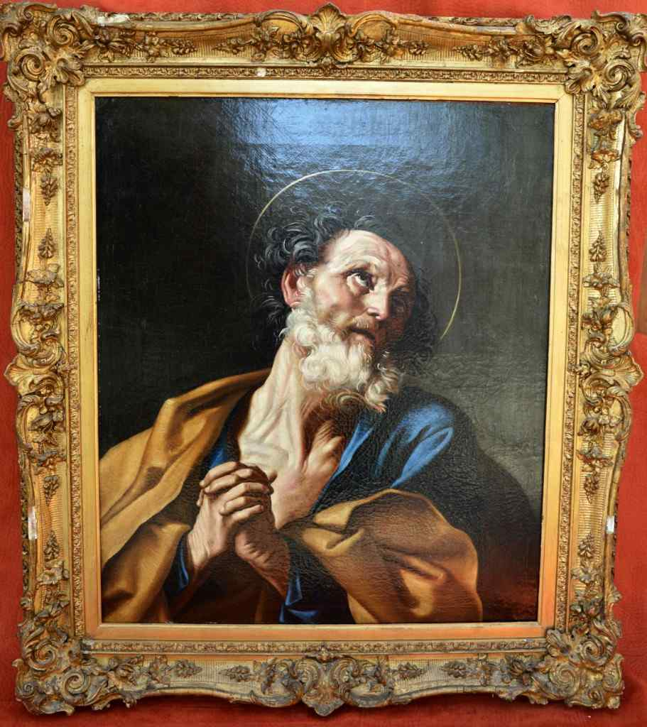 Bolognese School, XVIII, Follower of Guido Reni. Saint Pierr