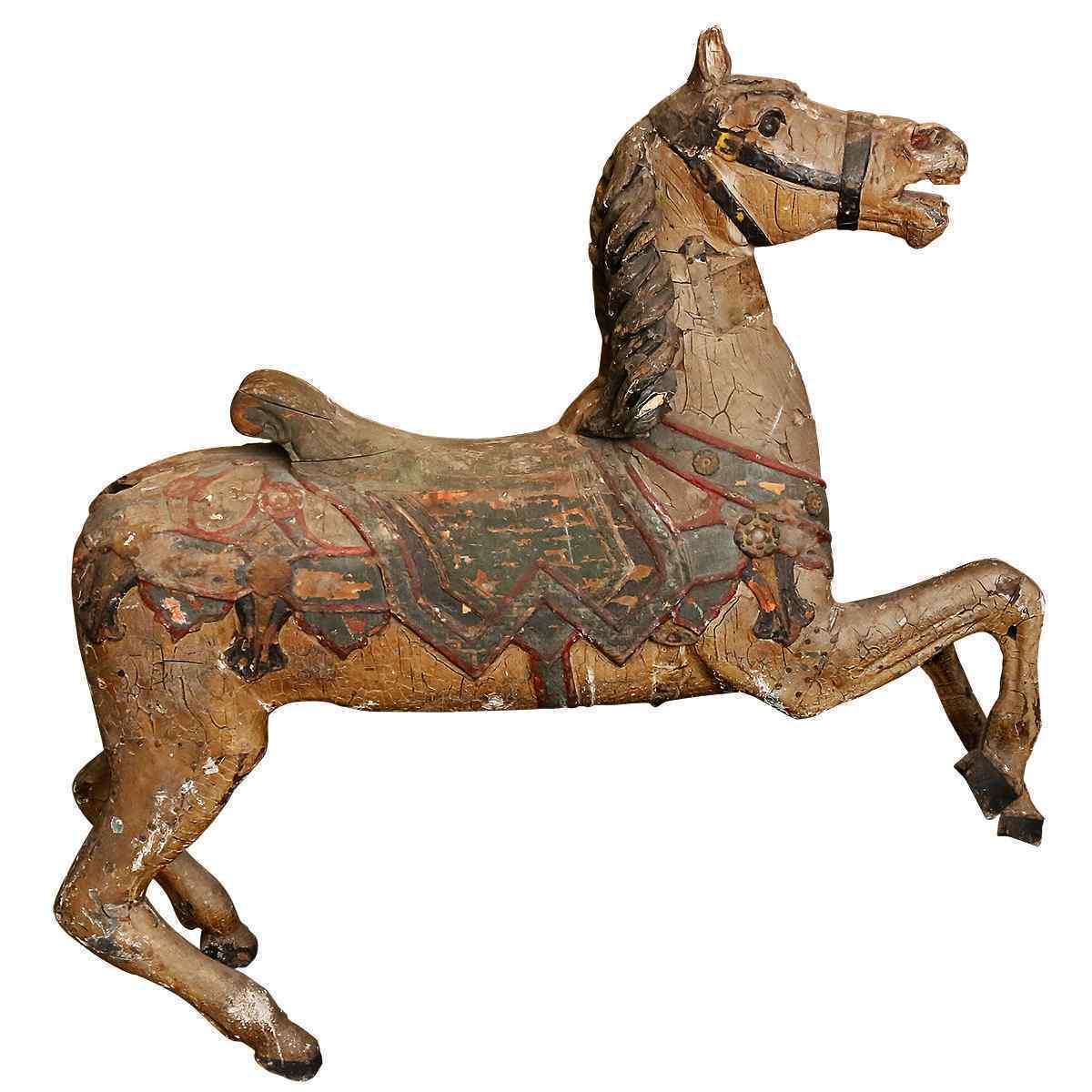 Карусельная лошадь Фридриха Хейна конца XIX века