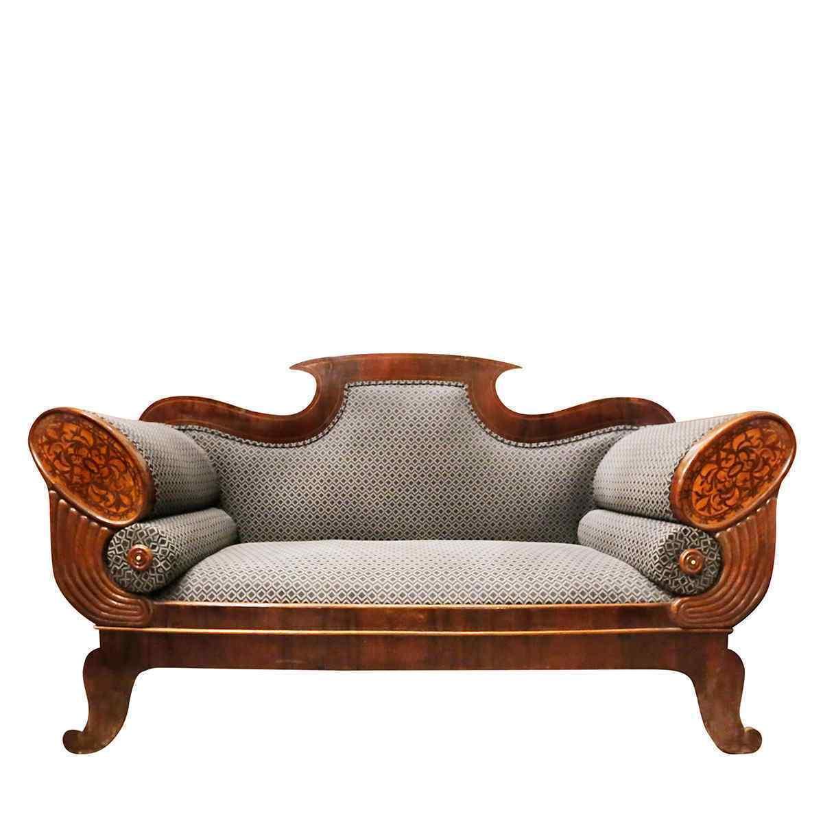 Spettacolare coppia di divani Biedermaier