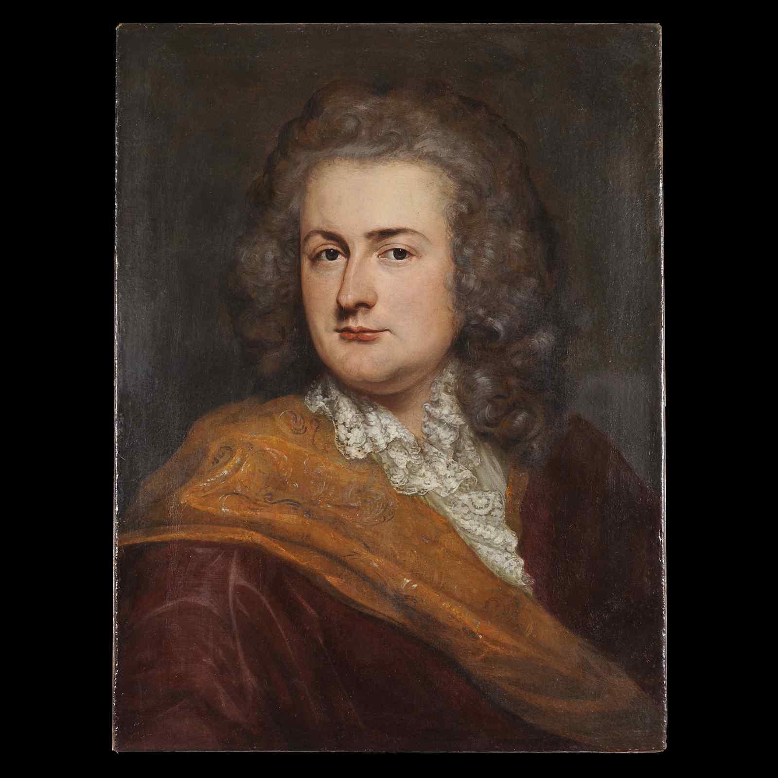 Portrait d'homme - Ecole anglaise XVIIIe