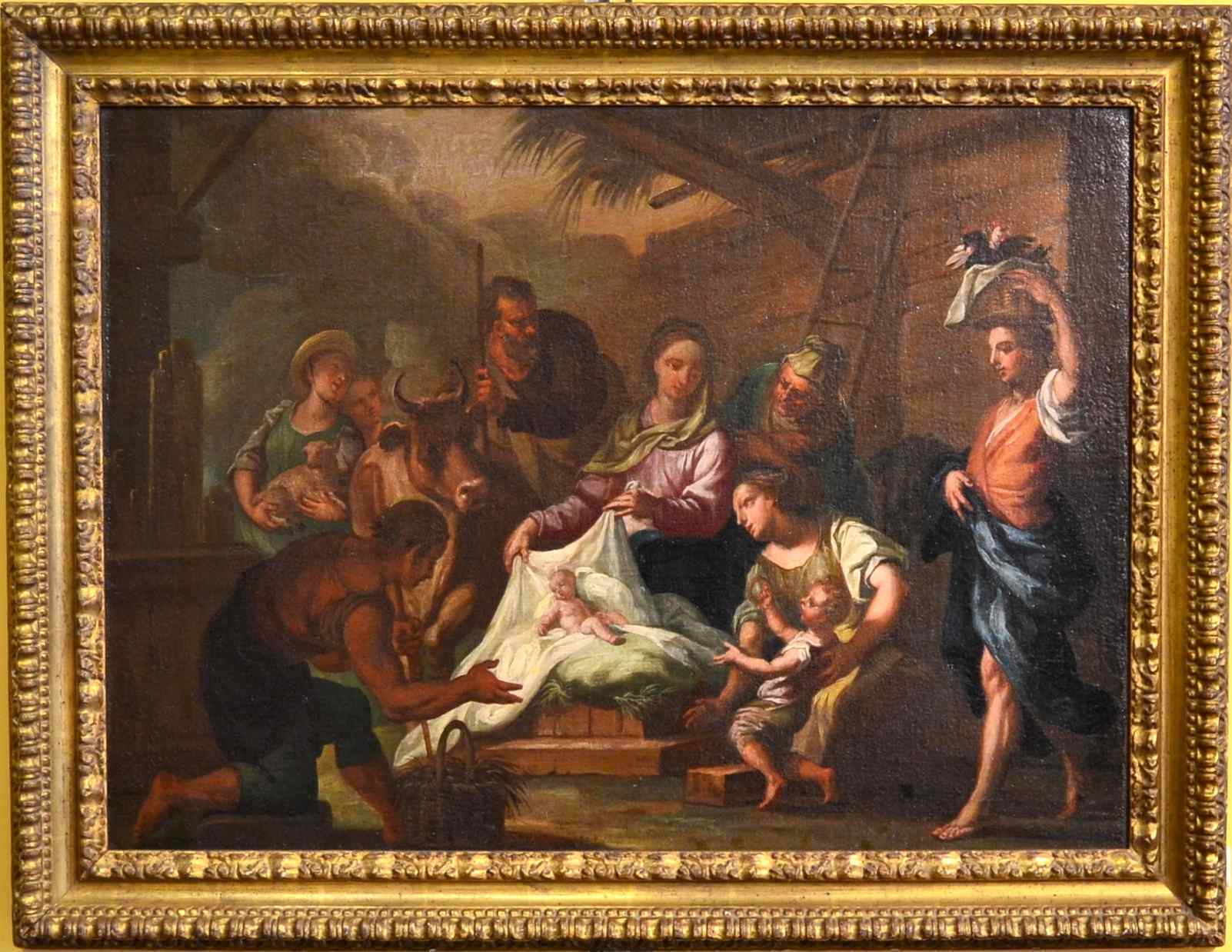 Поклонение пастухов, неаполитанской школы, в начале восемнадцатого века.