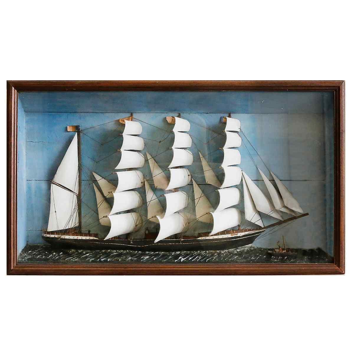 Морская диорама XIX века
