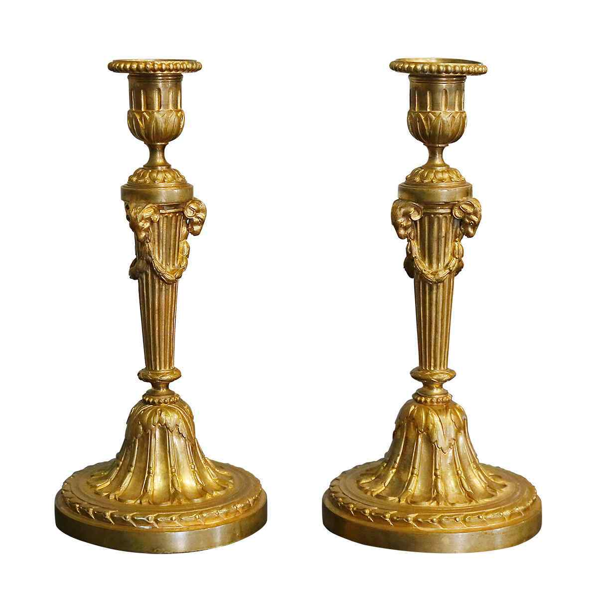 A Pair of Candlesticks 19th century