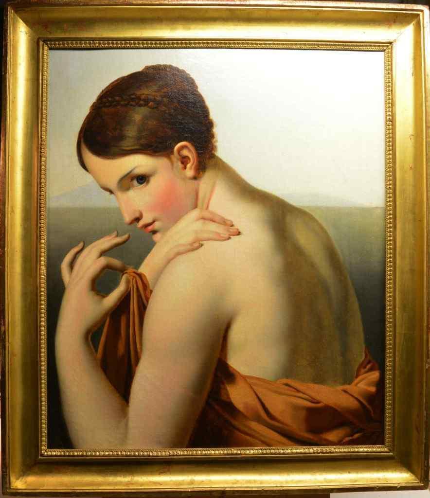 Workshop of Anne-Louis Girodet, Dame Outgoing Du Bain, 1820.
